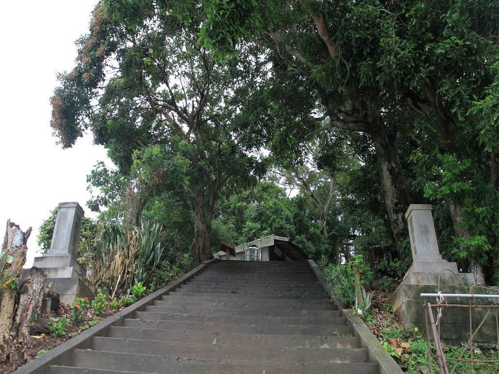 玉里社殘蹟-第一階梯兩側之石燈籠由饒永昌氏所奉納。拍攝:黃家榮