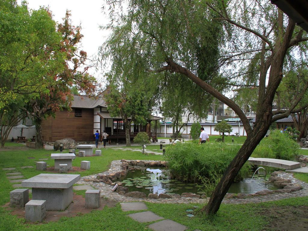 吉安慶修院內唯一的水池以日本四國地形為設計。拍攝:黃家榮