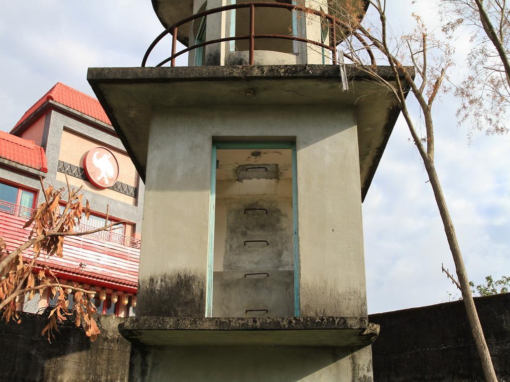 花蓮舊監獄遺蹟-明智街口處瞭望台二樓特寫  拍攝:黃家榮