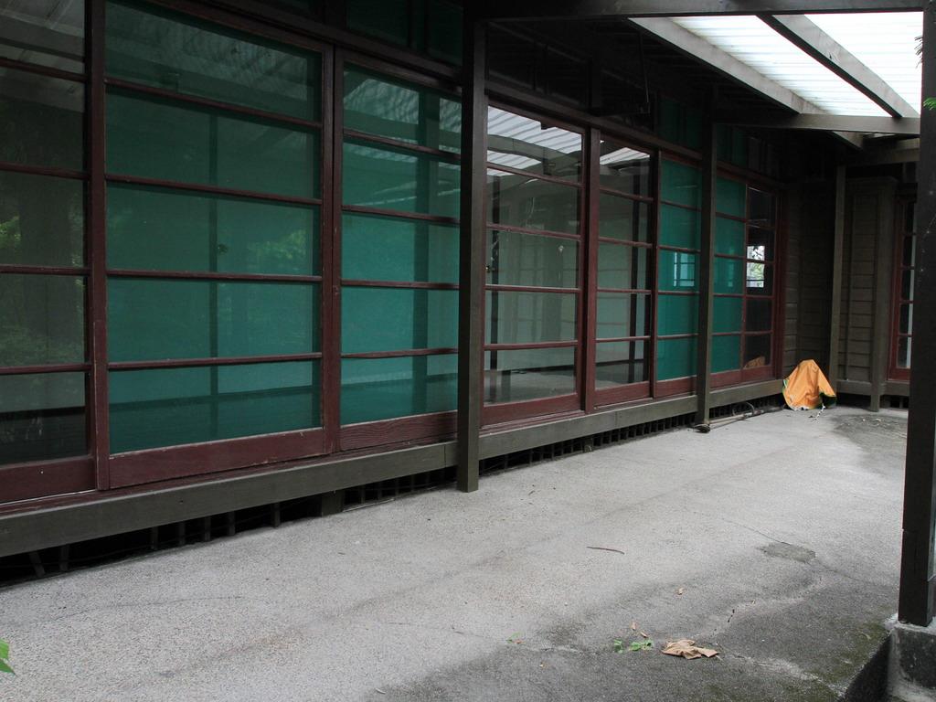 台肥招待所東側長廊外一景。拍攝:黃家榮