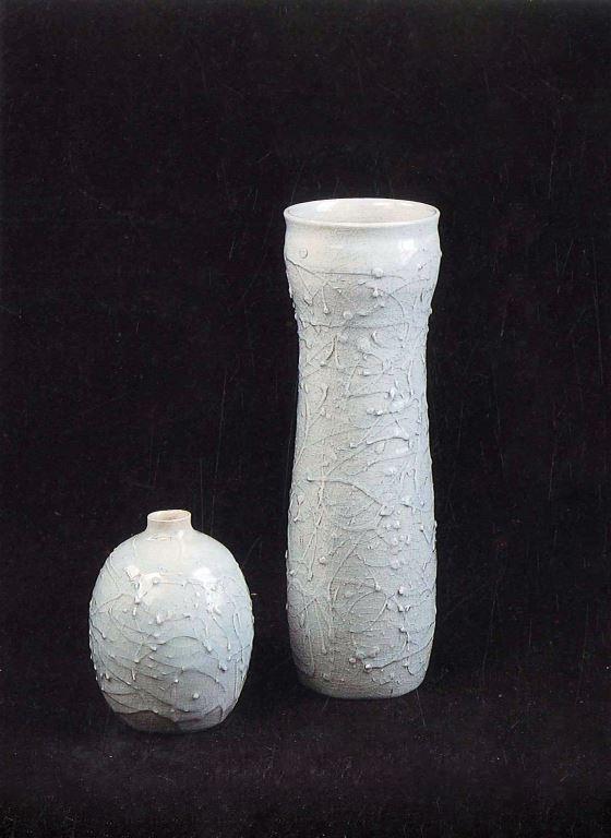 影青白紋瓶
