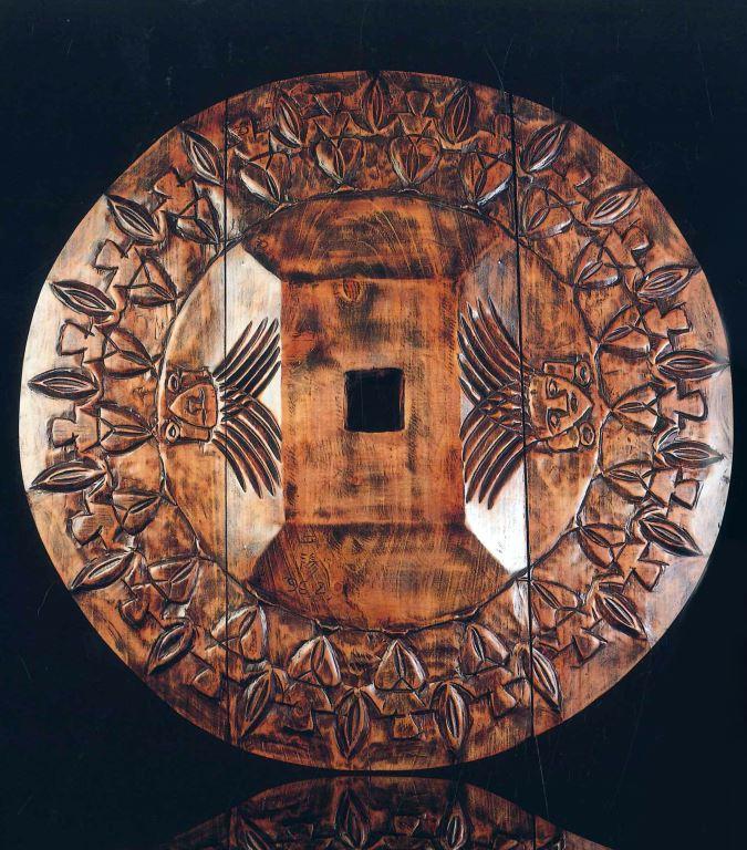 阿美族舞蹈圖案之圓形壁飾