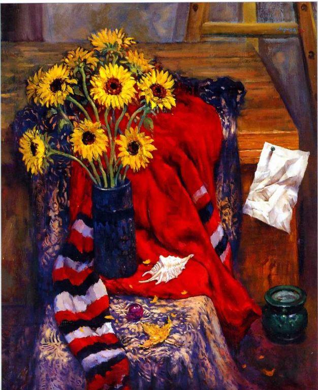 紅布與黃花