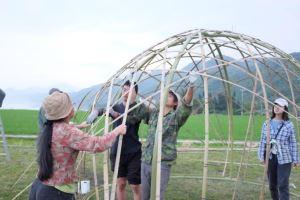 六角竹編延續圓球結構