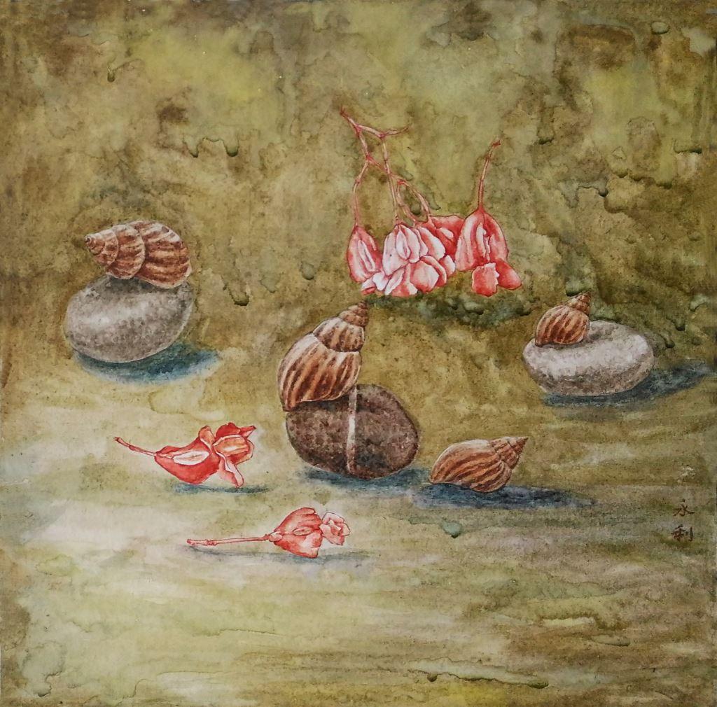 蝸行-海棠流影