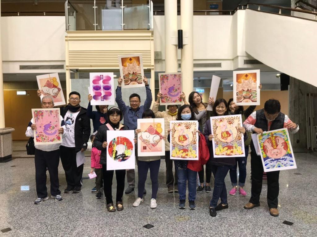 「諸事大吉-豬年年畫特展」版印年畫免費索取,數量有限,索完為止!(3)