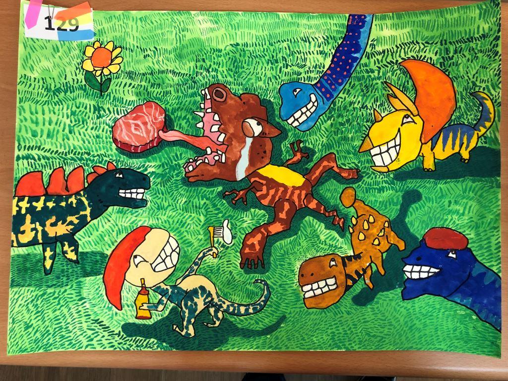 與愛的距離-全國特殊需求者「愛牙護齒保健康」繪畫比賽入選作品展(7)