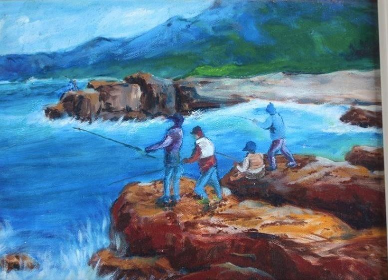 2020品味花蓮的藍:45度角畫家金根鴻與藝術家們共同展出