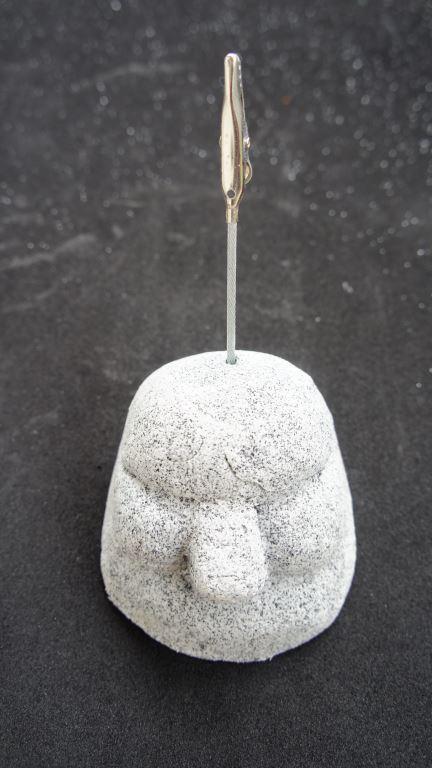 石頭粘土便條夾紙