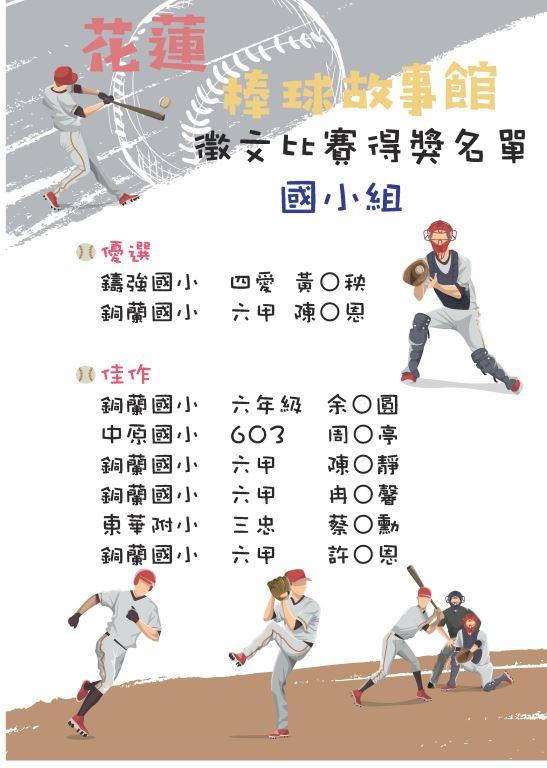 花蓮棒球故事館運動閱讀徵文比賽出爐囉!(2)
