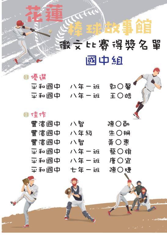 花蓮棒球故事館運動閱讀徵文比賽出爐囉!(3)