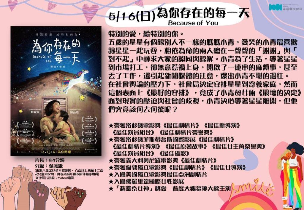 【活動暫停】110年5月份文化電影欣賞(7)