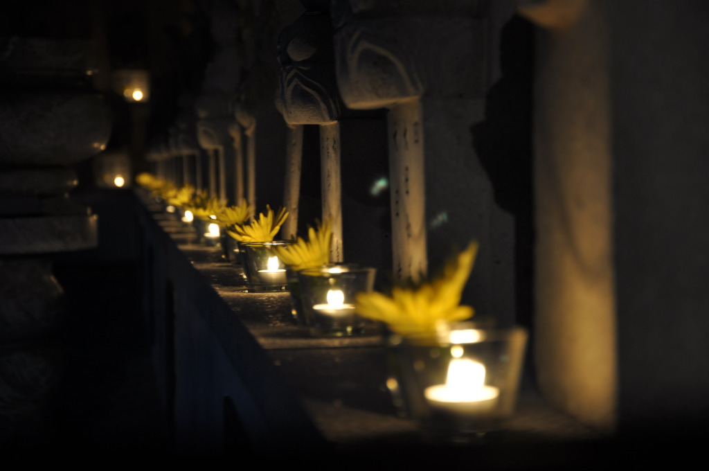 來吉安慶修院點燈祈福送愛到日本